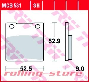Колодки тормозные (серия Organic Allround) MCB531 на rolling-store.ru - Изображение 1