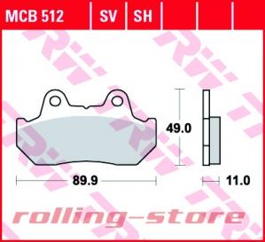 Колодки тормозные (серия Organic Allround) MCB512 на rolling-store.ru - Изображение 1